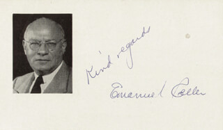 Autographs: EMANUEL CELLER - AUTOGRAPH SENTIMENT SIGNED