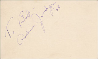 ARLINE JUDGE - INSCRIBED SIGNATURE 1934