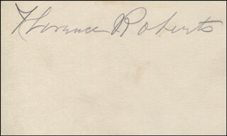 FLORENCE ROBERTS - AUTOGRAPH