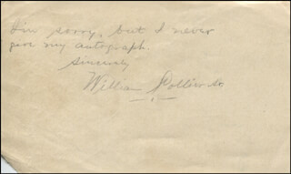 WILLIAM COLLIER SR. - AUTOGRAPH STATEMENT SIGNED