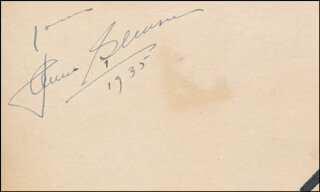Autographs: JAMES GLEASON - AUTOGRAPH SENTIMENT SIGNED 1935