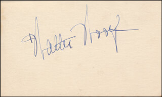 WALTER WOOLF KING - AUTOGRAPH