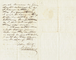 Autographs: GEORGE W. CHASE - AUTOGRAPH LETTER SIGNED 04/04/1855