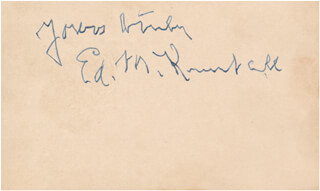 EDWARD KIMBALL - AUTOGRAPH SENTIMENT SIGNED