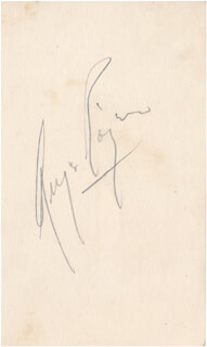 GINGER ROGERS - AUTOGRAPH