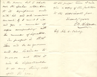 SIMEON B. CHITTENDEN - AUTOGRAPH LETTER SIGNED 12/14/1877