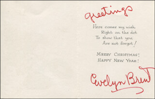 EVELYN BRENT - CHRISTMAS / HOLIDAY CARD SIGNED