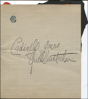RUTH CHATTERTON - AUTOGRAPH SENTIMENT SIGNED