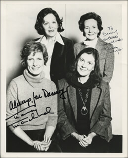 MORNING'S AT SEVEN PLAY CAST - AUTOGRAPHED INSCRIBED PHOTOGRAPH CO-SIGNED BY: NANCY MARCHAND, TERESA WRIGHT
