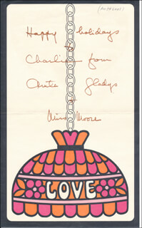 ANITA LOOS - CHRISTMAS / HOLIDAY CARD SIGNED