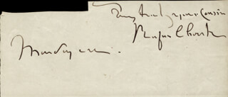 RUFUS CHOATE - AUTOGRAPH FRAGMENT SIGNED