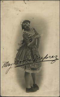 MAY MOORE-DUPREZ - AUTOGRAPHED SIGNED PHOTOGRAPH