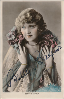 BETTY BALFOUR - PRINTED PHOTOGRAPH SIGNED IN INK