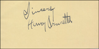 HENRY ARMETTA - AUTOGRAPH SENTIMENT SIGNED