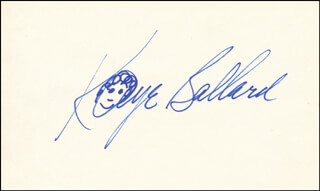 KAYE BALLARD - SELF-CARICATURE SIGNED