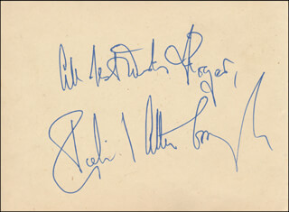 Autographs: SIR RICHARD ATTENBOROUGH - AUTOGRAPH NOTE SIGNED CO-SIGNED BY: GRACIE FIELDS