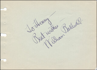 WILLIAM BAKEWELL - AUTOGRAPH NOTE SIGNED