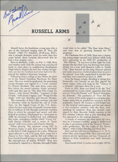 RUSSELL ARMS - COLLECTION