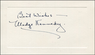 MADGE KENNEDY - AUTOGRAPH SENTIMENT SIGNED