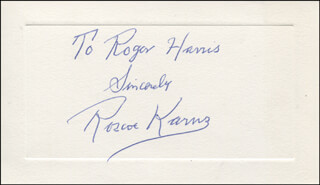 ROSCOE KARNS - AUTOGRAPH NOTE SIGNED
