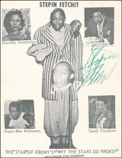 Autographs: STEPIN FETCHIT - PICTURE POST CARD SIGNED