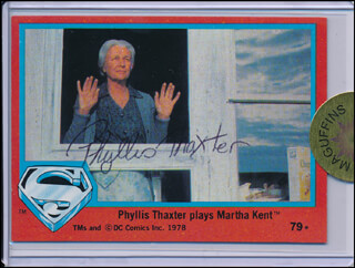 PHYLLIS THAXTER - TRADING/SPORTS CARD SIGNED