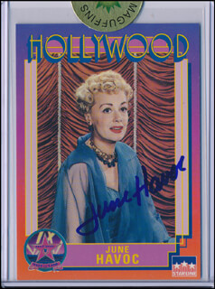 JUNE HAVOC - TRADING/SPORTS CARD SIGNED