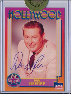 DON DEFORE - TRADING/SPORTS CARD SIGNED