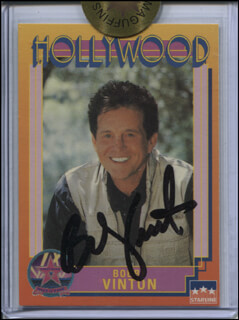 BOBBY VINTON - TRADING/SPORTS CARD SIGNED