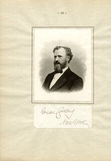 ROSCOE CONKLING - AUTOGRAPH  - HFSID 34331
