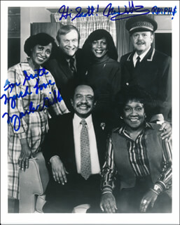 THE JEFFERSONS TV CAST - AUTOGRAPHED INSCRIBED PHOTOGRAPH CO-SIGNED BY: NED WERTIMER, MARLA GIBBS