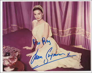 JEAN SIMMONS - AUTOGRAPHED INSCRIBED PHOTOGRAPH