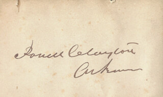 Autographs: BRIGADIER GENERAL POWELL CLAYTON - SIGNATURE(S)