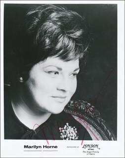MARILYN HORNE - PRINTED PHOTOGRAPH SIGNED IN INK