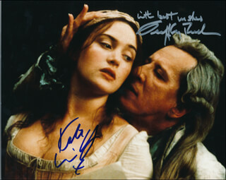 QUILLS MOVIE CAST - AUTOGRAPHED SIGNED PHOTOGRAPH CO-SIGNED BY: KATE WINSLET, GEOFFREY RUSH