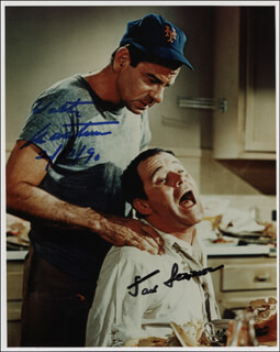 ODD COUPLE MOVIE CAST - AUTOGRAPHED SIGNED PHOTOGRAPH 02/17/1990 CO-SIGNED BY: JACK LEMMON, WALTER MATTHAU