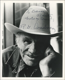 Autographs: R. G. ARMSTRONG - INSCRIBED PHOTOGRAPH SIGNED