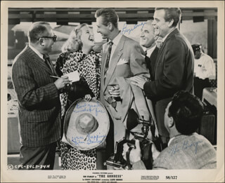 THE GODDESS MOVIE CAST - INSCRIBED PRINTED PHOTOGRAPH SIGNED IN INK CO-SIGNED BY: LLOYD BRIDGES, KIM STANLEY