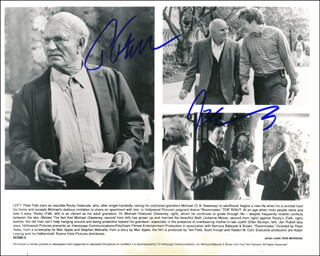 ROOMMATES MOVIE CAST - PRINTED PHOTOGRAPH SIGNED IN INK CO-SIGNED BY: PETER FALK, D. B. SWEENEY