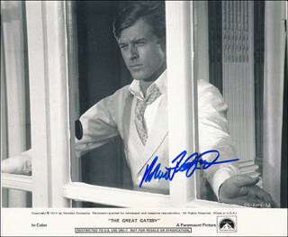 ROBERT REDFORD - PRINTED PHOTOGRAPH SIGNED IN INK