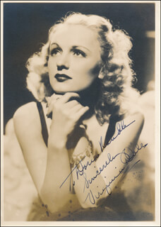VIRGINIA DALE - AUTOGRAPHED INSCRIBED PHOTOGRAPH