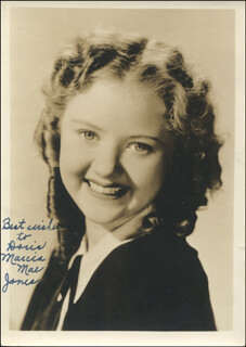 MARCIA MAE JONES - AUTOGRAPHED INSCRIBED PHOTOGRAPH