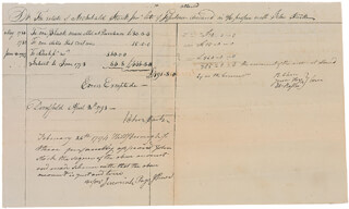 Autographs: MAJOR GENERAL JOHN STARK - MANUSCRIPT DOCUMENT SIGNED 04/20/1793