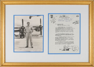 Autographs: ENOLA GAY CREW (PAUL W. TIBBETS) - TYPESCRIPT SIGNED