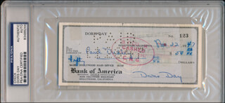 DORIS DAY - AUTOGRAPHED SIGNED CHECK 11/22/1947