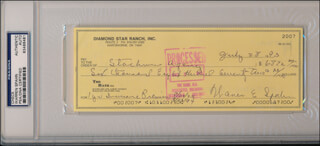 WARREN SPAHN - AUTOGRAPHED SIGNED CHECK 07/28/1993