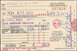 FRANK S. SUTTON - RECEIPT SIGNED 03/01/1966