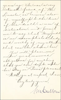 Autographs: GOVERNOR SHELBY M. CULLOM - MANUSCRIPT LETTER SIGNED 11/03/1891