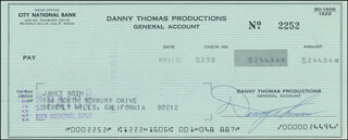 Autographs: DANNY THOMAS - CHECK SIGNED 11/21/1973