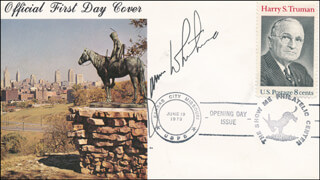JAMES WHITMORE - FIRST DAY COVER SIGNED